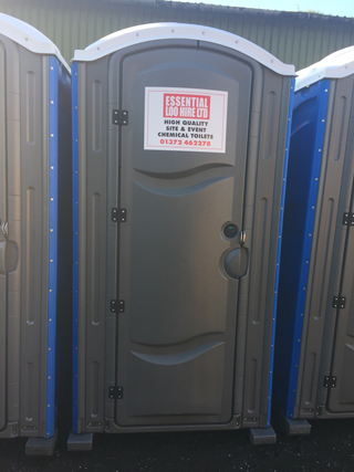 Portable toilets for building sites and construction sites